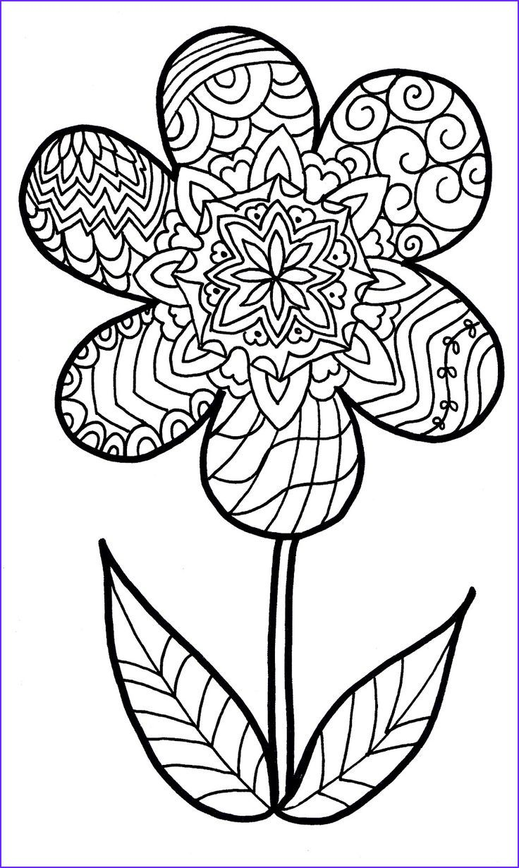 14 Beautiful Coloring Pages Of Flowers Photos Printable Flower Coloring Pages Flower Coloring Pages Coloring Pages