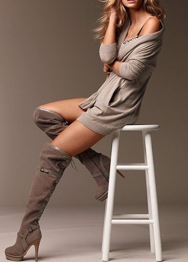 Colin Stuart over the knee boots.