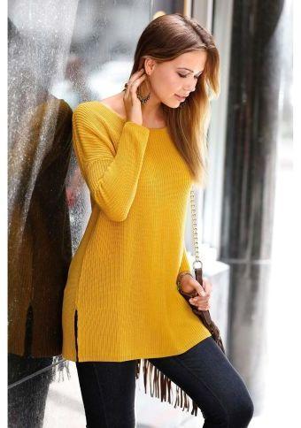 Dlouhý pulovr s postranními rozparky #ModinoCZ #autumn #fall #fashion #trendy #stylish #fallfashion #moda #podzimnimoda #trend