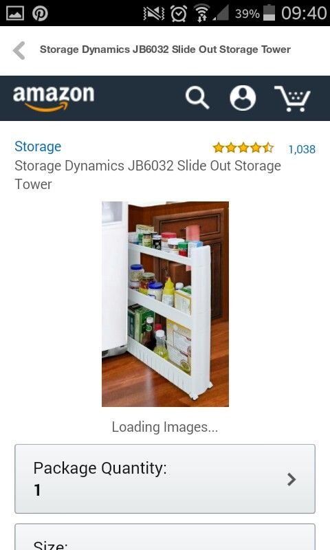 Slide Out Storage Tower For Laundry Or Kitchen