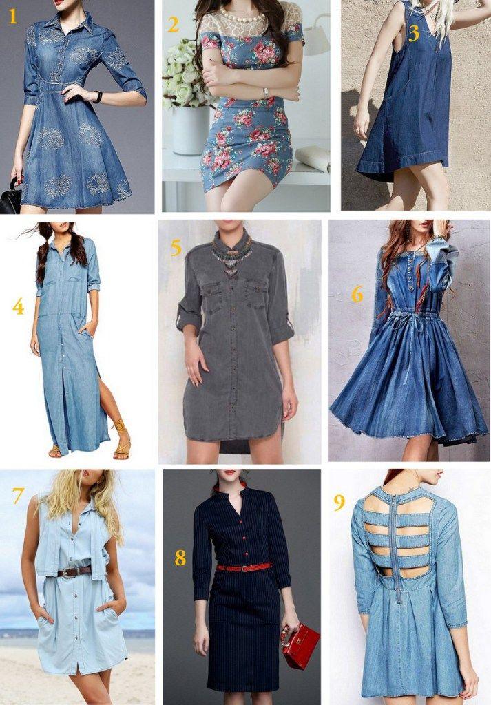 Vestido Jeans emdiversos modelos, lavagens, acho o jeans muito versátil e com o passar do tempo vem conquistando mais espaço