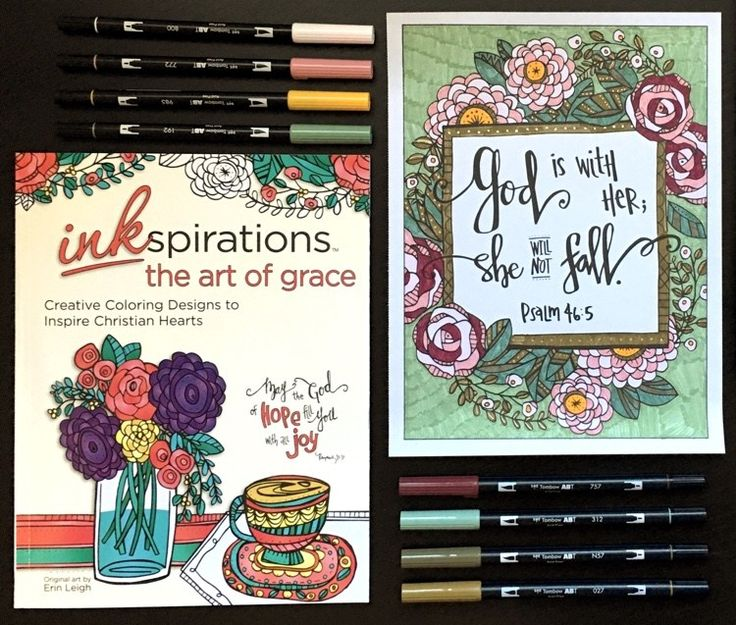 Inkspirations The Art Of Grace Is A New Adult Coloring Book For Christian Women