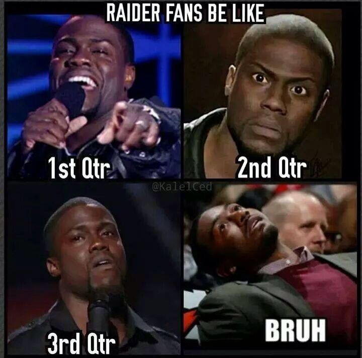 Raiders fans be like