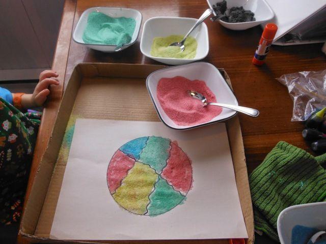 wooloo bricolage avec du sable color - Sable Colore