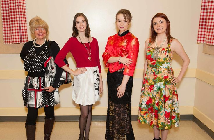 Georgine, Beth Taylor and Amy 4 of our models at the Bead Show
