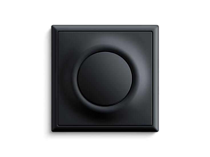 Lichtschalter impuls schwarz matt