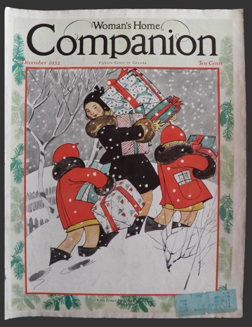 1932 Woman's Home Companion Cover ~ Maginel Barney ~ Christmas Gifts, Vintage Magazine Covers