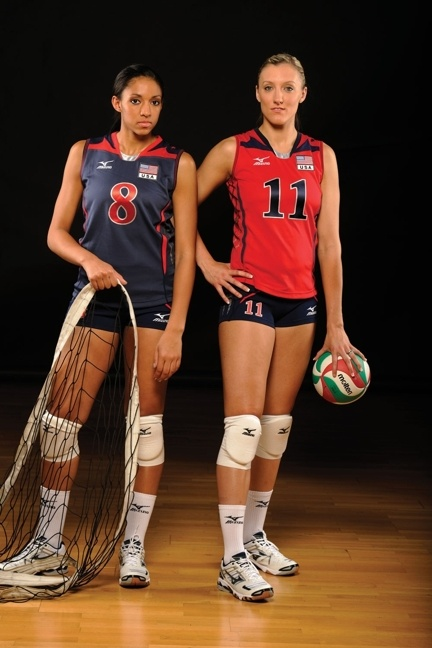 Follow Alisha Glass, Jordan Larson and (not pictured) Ryan Millar as they blog and tweet about their journey to London. www.facebook.com/mizunovolleyballnorthamerica