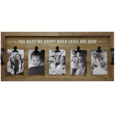 "Fetco Home Decor ""You Make Me Happy When Skies Are Gray"" Picture Frame & Reviews 