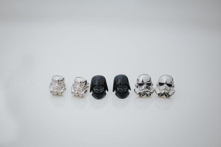 Star Wars Cuff Links!!  Wedding, cuff links, groom fashion, stylish groom, Star Wars