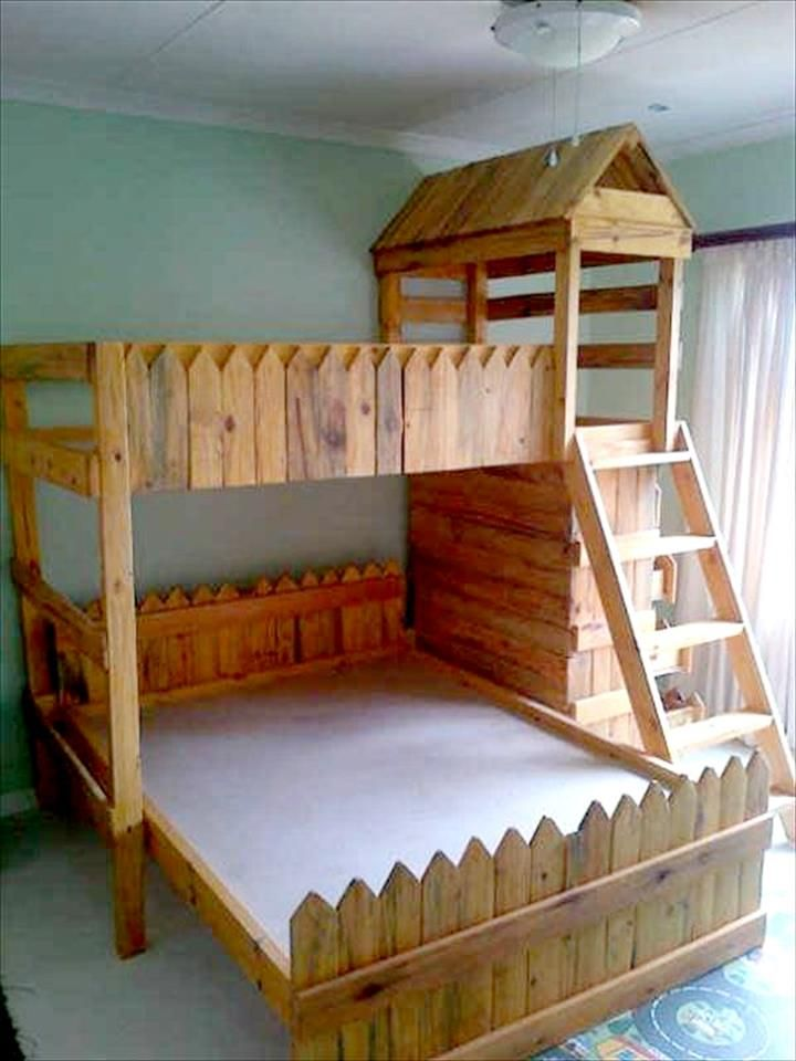 Pallet Bunk Bed for Kids - 30 Pallet Projects That Will Make You Fall in Love | 99 Pallets