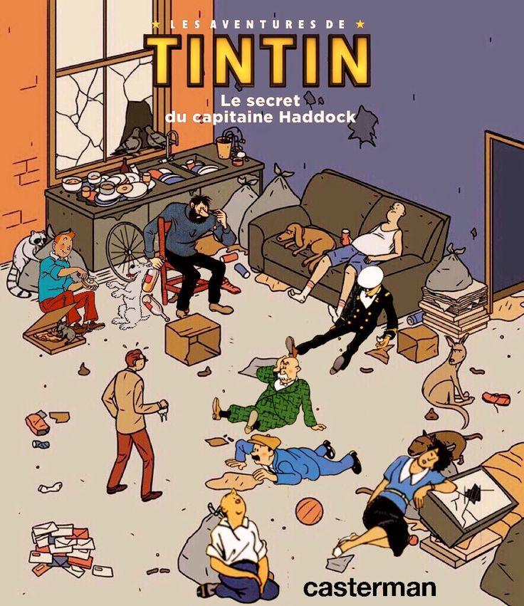 Les Aventures de Tintin - Album Imaginaire - Le Secret du Capitaine Haddock