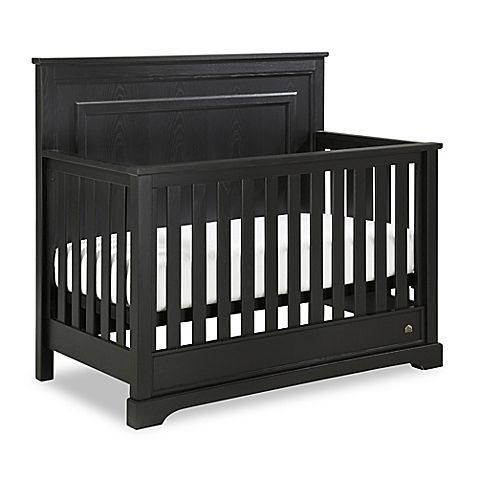 HGTV HOME™ Baby's Grayson Collection defines fresh classic style. Designed to grow with your baby, the enchanting Grayson 4-in-1 Convertible Crib showcases a robust silhouette with clean lines and a sleek, black finish.