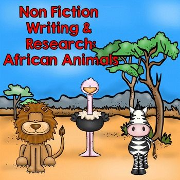 This kit has it all everything you will need for your Animal Research and Non Fiction Writing Unit. This unit focuses on African Animals, but I have also included blank templates so your students can also research other animals. Included in this set:- Can, Have, Are Graphic Organizer- Research Graphic Organizer- Venn Diagrams to compare and contrast different African Animals- Cut and Paste Animal Appearance- Templates for Research Book- Templates for Research File Folder Books- QR codes to…