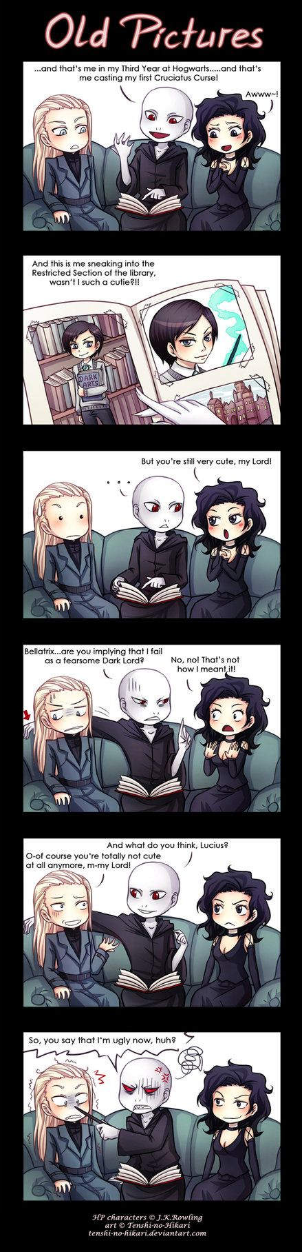Voldemort, Lucius, and Bellatrix>> awwe if u dont ship them now, YOU SIT ON A THRONE OF LIES!!!