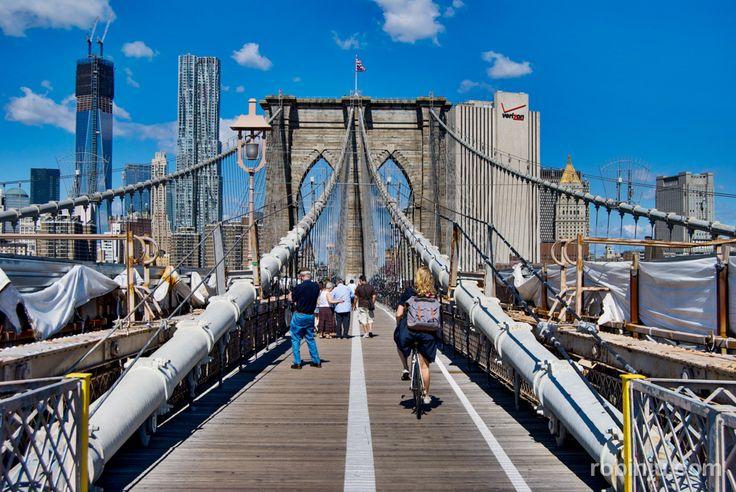 Pasear por el puente de Brooklyn