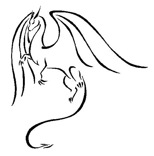 Line Drawing In C : Best simple dragon tattoo drawings images on pinterest