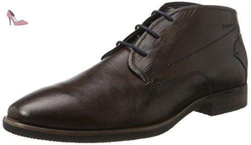 Bugatti 312295011100, Zapatos de Cordones Derby Para Hombre, Marrón (Dark Brown), 44 EU amazon-shoes el-negro Cordones