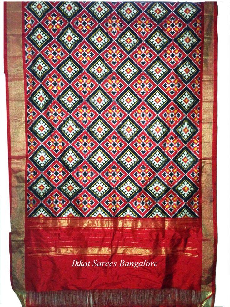 Double Ikat Patola pure silk dupatta Length 2.5m x Width 0.91m Code: D10 Write to ikkatsareesbangalore@gmail.com or inbox the message. Contact : +918792177606