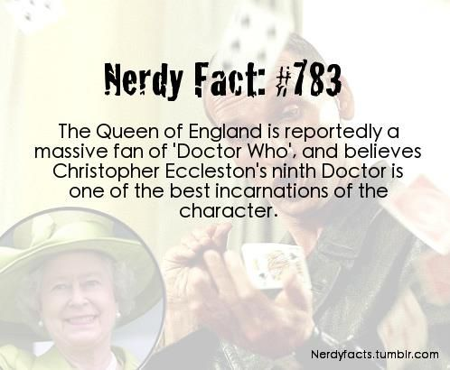 Doctor Who  Nerdy Fact 783... this is why i love my country... yes
