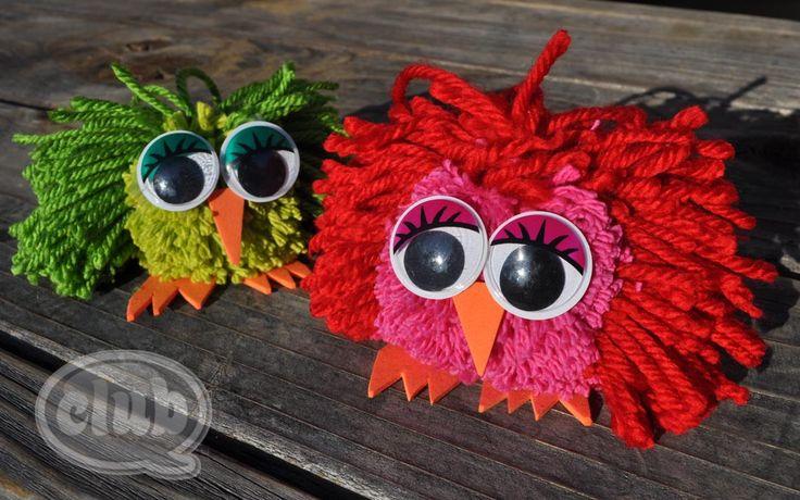 owl pom poms