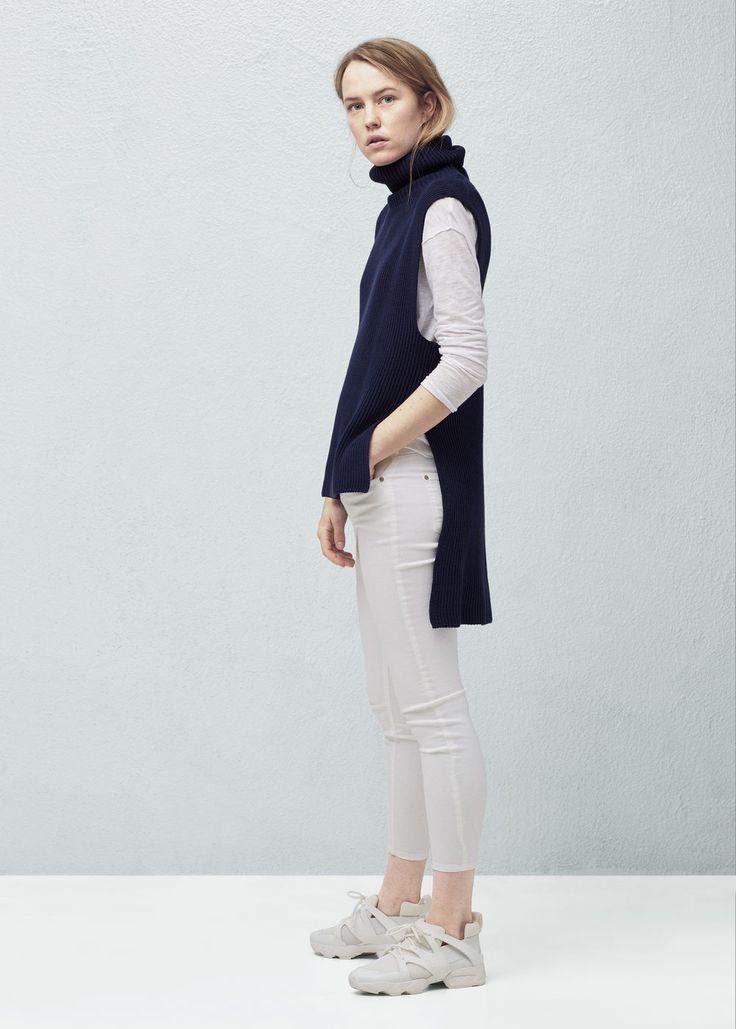 Cotton gilet - Jackets for Women | MANGO