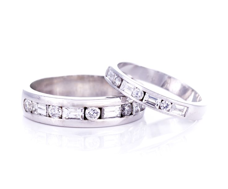 Men's and Ladies matching wedding bands