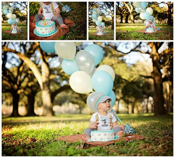 Baby Boy First Birthday Outfit - Boys Birthday Bodysuit with Matching Hat and Leggings - Cakesmash on Etsy, $47.00