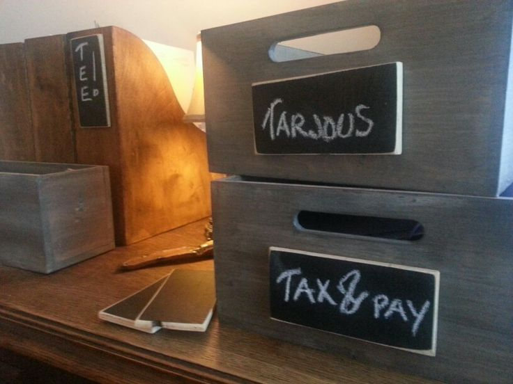 WoodBoxes in office