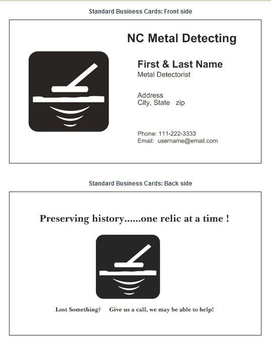 9 best mding business cards images on pinterest business cards name nc metal detecting formatg views 53 size 452 reheart Gallery