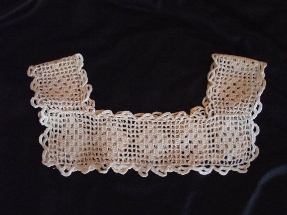 Items similar to Vintage Crocheted Girls Dress Yoke on Etsy