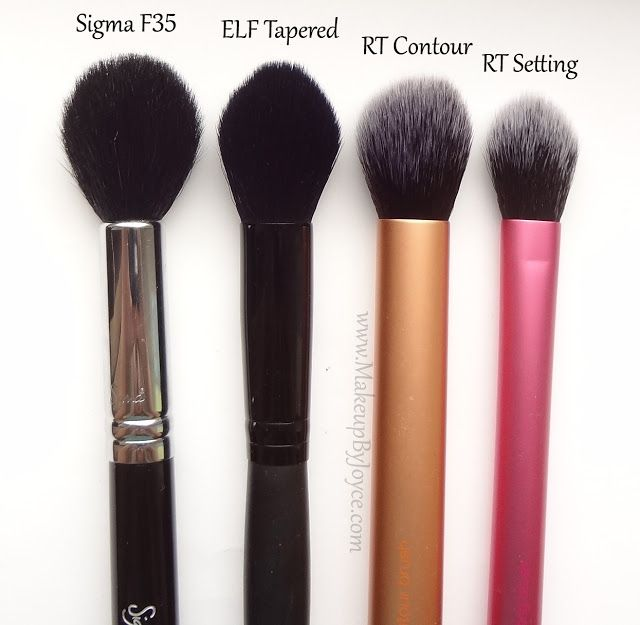 elf small tapered brush, 3 dollar dupe! great for highlighting/contouring! Real techniques, sigma setting