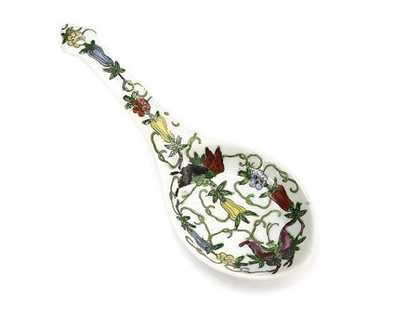 Asian Spoon Rest Holder / Cantonese / Yang Chen by PeriodElegance