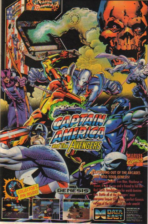 Captain America and the Avengers video game ad. Fun times.