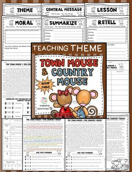 Are you teaching your students how to determine the theme, moral, lesson, and central message of a story? This product provides your students with many opportunities. Students will use text evidence, identify the theme, understand vocabulary, identify story elements, and practice retelling/summarizing. Aesop's fables are a wonderful way to teach these important skills.