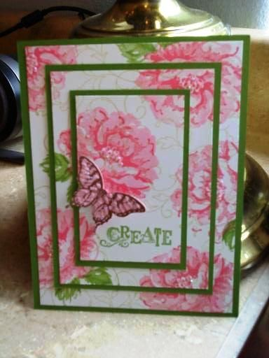 7/31/2012; Ikarr309 at Splitcoaststampers using SU products; Stippled Blossom, Papillon Potpourri and Creative Elements + Elegant butterfly punch