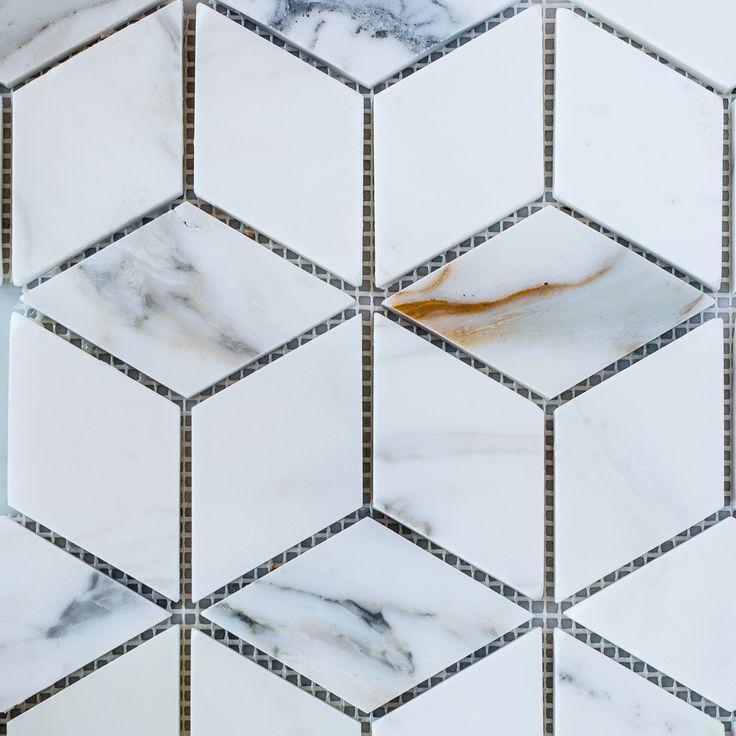 Designer Marble | Calacatta Gold Prism Mosaic