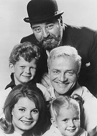 Family Affair is an American sitcom that aired  September 12, 1966 to September 9, 1971. The series explored the trials of well-to-do civil engineer and bachelor Bill Davis (Brian Keith) as he attempted to raise his brother's orphaned children in his luxury New York City apartment.Butler , Mr.  French (Sebastian Cabot), was saddled with the responsibility of caring for 15-year-old Cissy (Kathy Garver) and the 6-year-old twins, Jody (Johnny Whitaker) and Buffy (Anissa Jones).