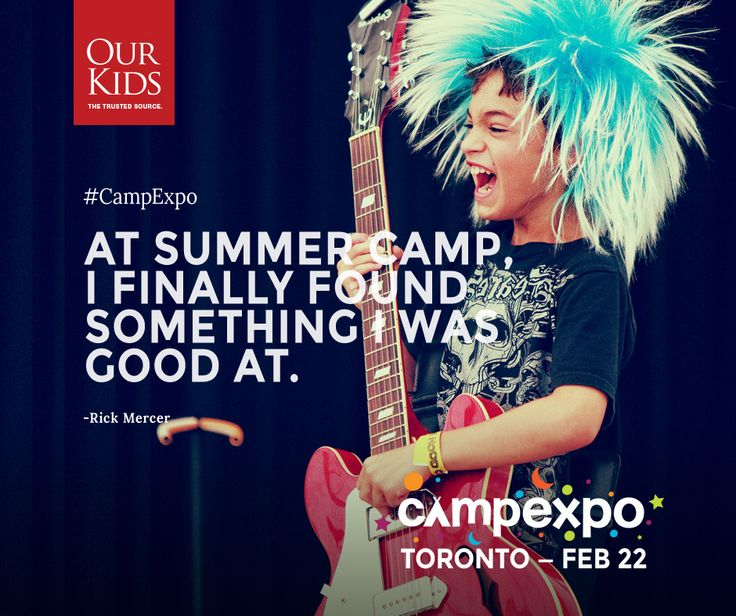 """""""At summer camp, I finally found something I was good at"""" - Rick Mercer. Read more about Rick's experience here: http://www.ourkids.net/rick-mercer-on-camp.php www.campexpo.ca"""