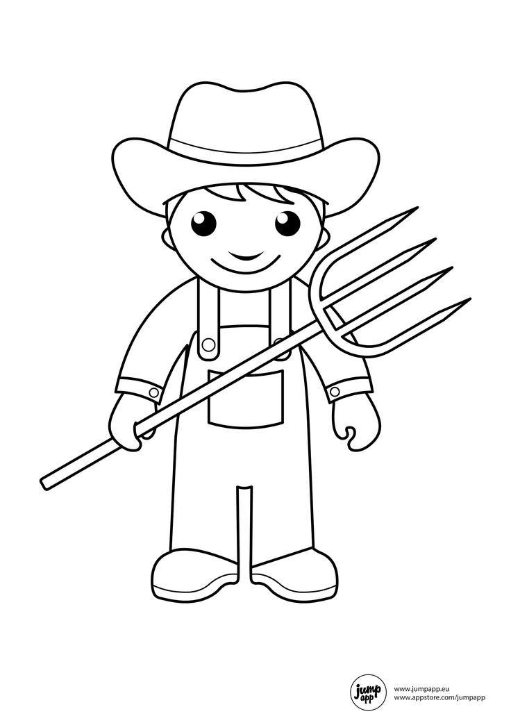 farmer Printable Coloring Pages