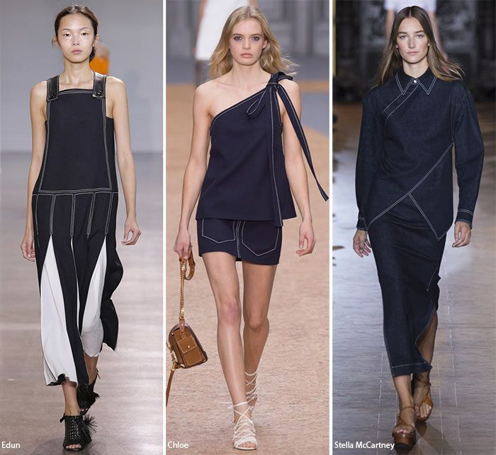 Spring/ Summer 2016 Fashion Trends: Contrast Stitching  #trends #fashiontrends