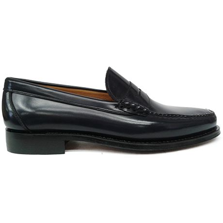 8428 zapato mocasín beefroll azul de currucanero | Calzados Garrido