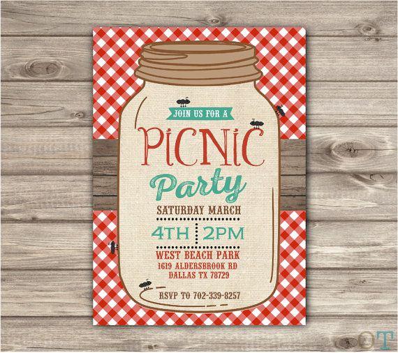 Picnic Parque fiesta tarro de masón playa barbacoa reunion