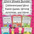 What a perfect way for your students to practice learning short vowel words!  This pack includes 3 leveled game cards and several different activit...