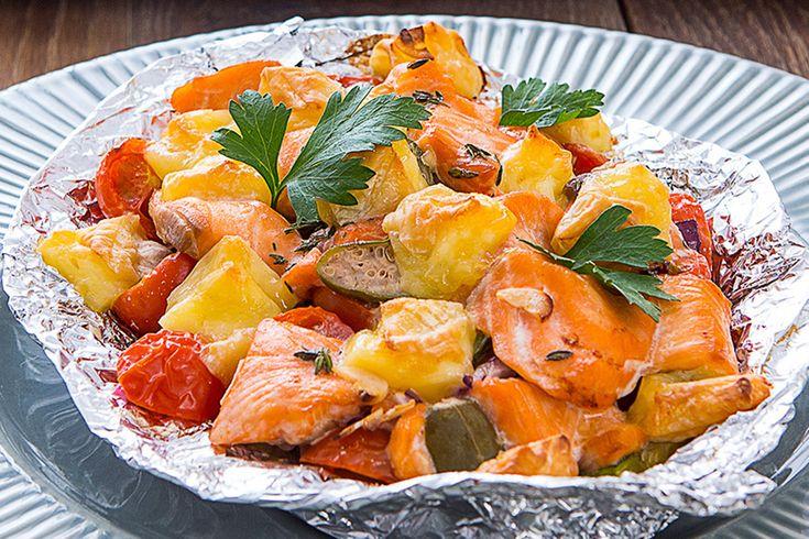 Запеченая форель с овощами и сыром камамбер (зарегистрируйся на LetyShops.ru, оформи заказ в chefmarket.ru и верни от 5% от суммы заказа)