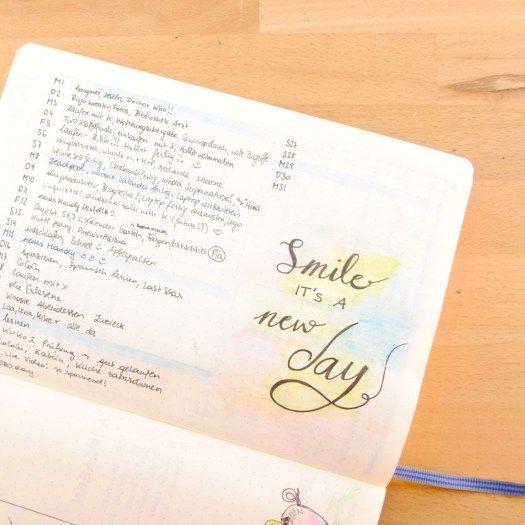 Mini-Tagebuch im Bullet Journal/Kalender - so lernst du deine Tage wertzuschätzen #perksofbeingastudent