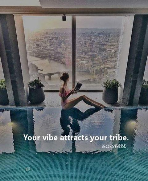 Your vibe attracts your tribe // You are the average of the 5 people you spend the most time with. One important key I've found is to be the 3rd-4th successful person in your group of 5. Which means that you'll have 1-3 people that you're learning from who are pulling you UP the ladder, and you'll have 1-2 people to teach. If you're the most successful person in your friend group, you're in trouble - that means you're being pulled down. #giveandrecieve #ibossbabe