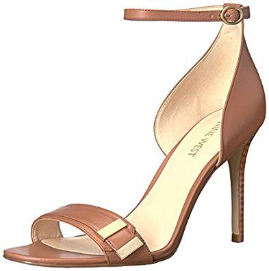 Sandalia de vestir V-Cara para mujer, Taupe oscuro, 9 M US