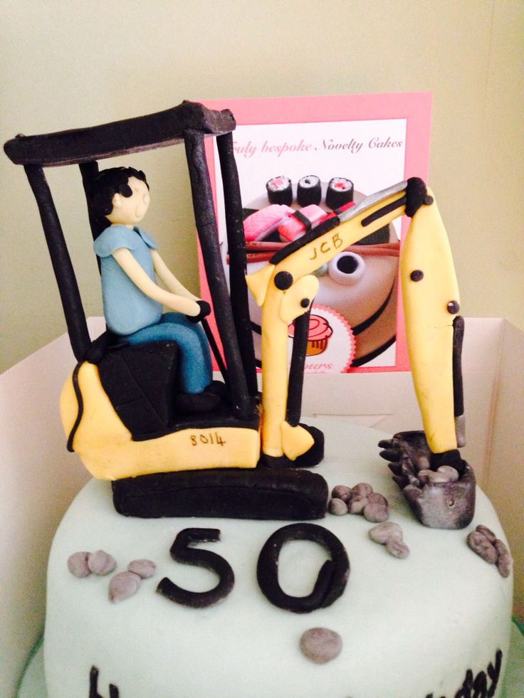 JCB Digger Cake Made by Yours Tastefully #jcbdiggercake