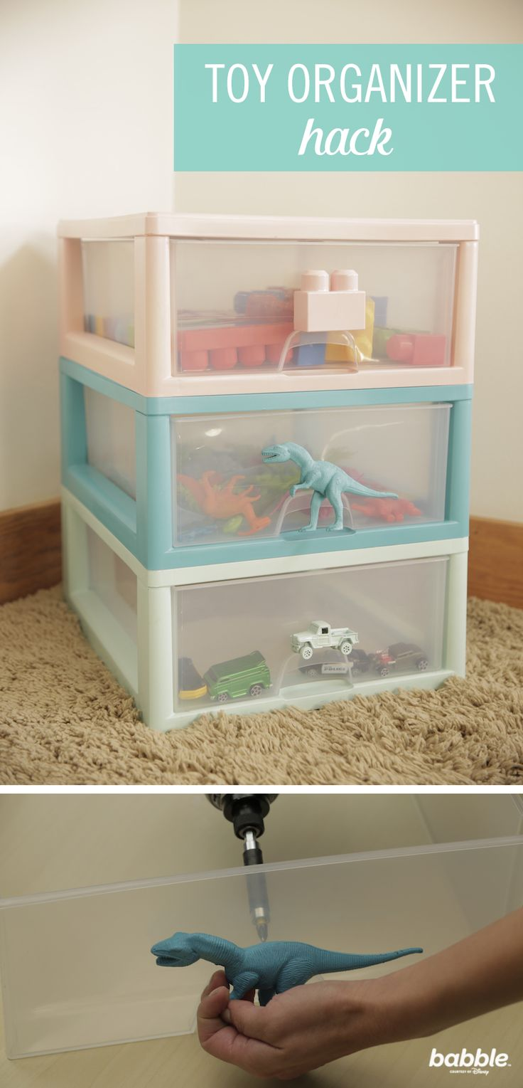 Let's be honest, cleaning our kids' rooms involves shoving their toys into the nearest closet (or maybe even under their bed). But we're making organization super simple and affordable. This Toy Organizer Hack categorizes the drawers by toy, so your little ones can easily pick out items they want to play with next. Plus, the beautiful DIY adds the perfect pop of pastel to the room. With just a few supplies, like paint, gloss sealer, and a drill, there will be no more clutter!